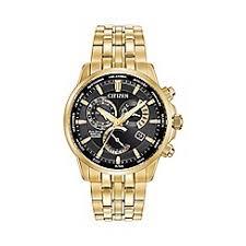 citizen watches men debenhams citizen men s gold tone perpetual calendar bracelet watch bl8142 50e