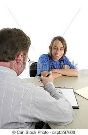 Job Interview Teenager First Job Interview A Teen Boy Being Interviewed For His First Job
