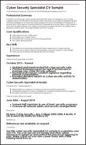 Resume Specialists Cyber Security Specialist Cv Sample Myperfectcv