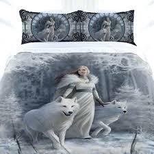 anne stokes winter guardian gothic fairy queen size doona duvet quilt cover set gothic duvet covers gothic duvet covers nz