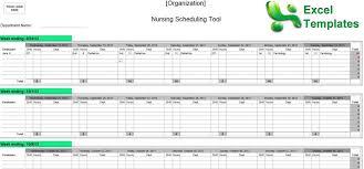 Examples Of Nurse Staffing Schedules X Nursing Schedule Template