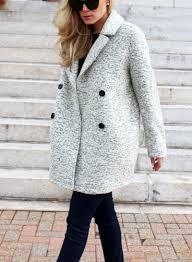 marled wool winter pea coat