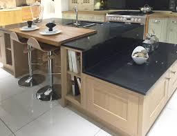 Granite Kitchen Islands With Breakfast Bar Contemporary Kitchen Island Design In Lissa Oak With Split Level