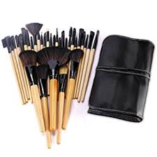 bestope 32pcs professional makeup brushes set synthetic kakubi cosmetic foundation blending blush eyeliner face powder mac