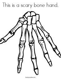 Small Picture This is a scary bone hand Coloring Page Twisty Noodle