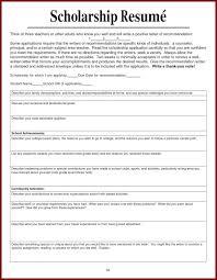 scholarship templates scholarship resume template 15 college uxhandy com