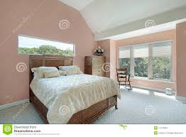 Mauve Bedroom Master Bedroom With Mauve Colored Walls Stock Image Image 12174891