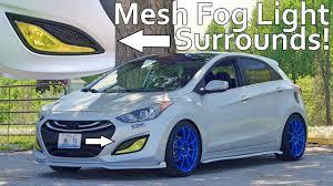 Custom Fog Designs Custom Mesh Fog Light Surrounds Hyundai Elantra Gt