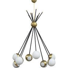 vintage italian brass chandelier