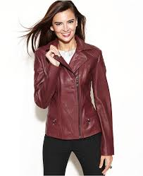 anne klein asymmetrical quilted leather jacket