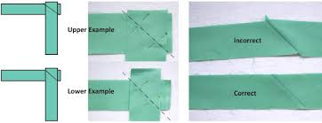 Binding Basics - Part 2: Making the Binding - Quilting Tutorial ... & Lay the strips with right sides together and perpendicular to each other.  Draw a diagonal line exactly from corner-to-corner on the edges where the  strips ... Adamdwight.com