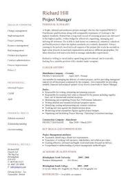 Resume Template Project Manager Single Page Resume Template Project