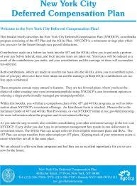 Retirement Plan Rison Chart New York City Deferred