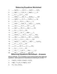balancing equations worksheet key photos getadating