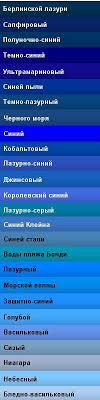 все оттенки <b>синего</b> с названиями <b>цветов</b> | Названия <b>цветов</b> ...