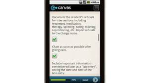 Canvas Documentation And Charting Tips For Cnas Mobile App