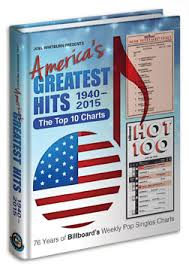 Americas Greatest Hits Top10 Charts 1940 2015 Hardcover