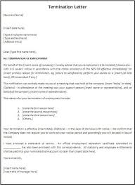 Termination Of Employment Letter Template Business