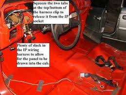 how to remove the instrument cluster gm square body 1973 also when reconnecting the harness to the ip circuit board be aware that the notches in the bucket are of two different sizes as are the tabs on the plug