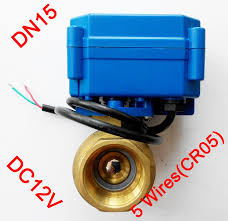 com buy electric ball valve dc v motorized com buy 1 2 electric ball valve dc 12v motorized valve 5 wires cr 05 dn15 electric valve for water heater from reliable valve