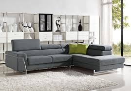 modern grey fabric sectional sofa set