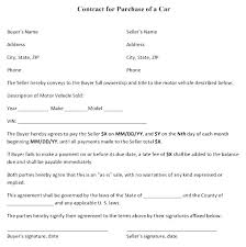 Automobile Sales Agreement Vehicle Purchase Agreement Template