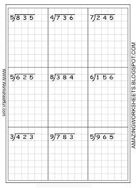 Long Division Worksheets Free Using Graph Paper Keeps