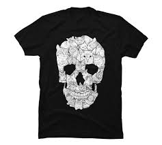 Design By Humans Return Policy Design By Humans Sketchy Cat Skull Mens Graphic T Shirt