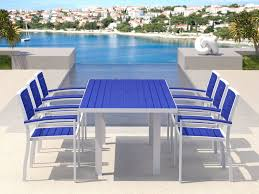 patio all weather patio furniture outdoor furniture blue table and chair made of wood