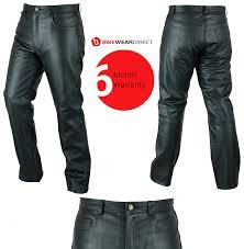 texd black leather jeans