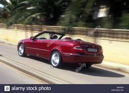 Car, Mercedes CLK 320, Convertible, model year 2003-, red, open ...