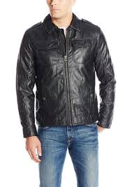 lucky brand men s amherst faux leather moto jacket