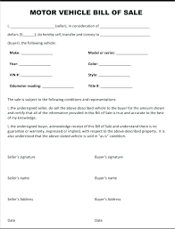 Vehicle Order Form For Used Car Sales Purchase Getvenue Co