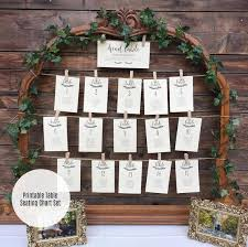 Etsy Table Seating Chart Wedding Seating Chart Template Printable Wedding Sign And Table Numbers Instant Download Printable Pdfs