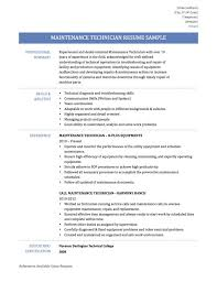 Maintenance Resume Examples Beauteous Maintenance Resume Sample Sidemcicek Com Ultimate On Technician