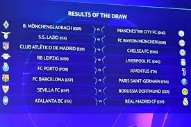 Everything is ready for the draw! Champions League Last 16 Draw Results Schedule And Dates As Com