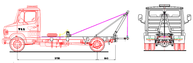 tow trucks anammco wheel lift tow truck at Tow Truck Diagram