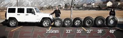 Jeep Tire Size Chart Choosing Tires For Your Jeep Teraflex