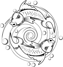 Small Picture kids coloring pages of a koi fish tattoo design Coloring Point