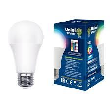 <b>Лампа</b> светодиодная (UL-00006530) <b>Uniel E27 10W RGB</b> матовая ...