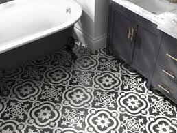 White floor tiles bathroom Square Black And White Tile Lowes Bathroom Tile And Trends At Lowes