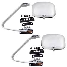 Ford Pickup Truck Bronco Set of Side View Manual Mirrors with Chrome ...