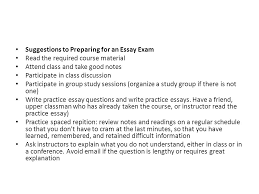 writing the definition essay what is an american ppt suggestions to preparing for an essay exam the required course material attend class and take