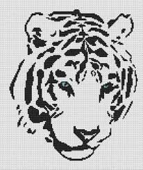 Cross Stitching Patterns Mesmerizing White Willow Stitching Tribal White Tiger Cross Stitch Pattern