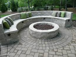 Small Picture Fire Pit with Seating Wall Fire Pits Pinterest Backyard