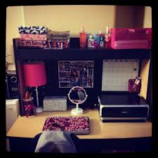 college dorm desk i can only hope i can be this organized