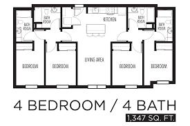 4 Bedroom Apartment Floor Plans Sculptfusionus Sculptfusionus