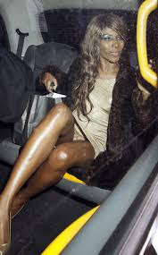 Sinitta Panties Upskirt Getting Out of the Taxi on TaxiDriverMovie