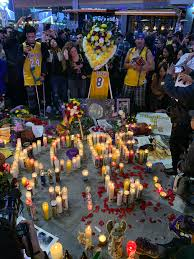 Kobe and Gigi memorial at Staples ...