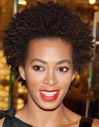 the queen of natural hairstyles solange s afro style is long enough to show off texture but short enough to remain manageable to achieve this style